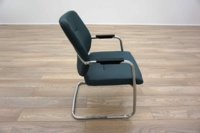 Blue Fabric Cantilever Office Meeting Chairs - Thumb 4