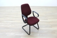 President Burgundy Fabric Office Meeting Chairs - Thumb 5