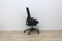 Intersthul Black Operator Chair With Mesh Back - Thumb 3