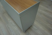 Bene AL Walnut / Aluminium Executive Office Storage / Credenza Cupboard - Thumb 4