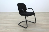 Steelcase Strafor Black Fabric Office Meeting Chairs - Thumb 4