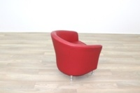 Red Leather Office Reception Tub Chairs - Thumb 7