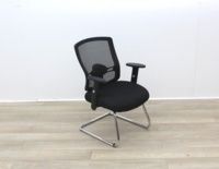 Black Meeting Chairs With Mesh Back and Fabric Seat - Thumb 6