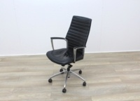 Black Leather Operator/Executive Chairs - Thumb 3