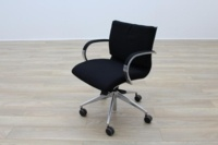 ICF Black Fabric Executive Office Task Chairs - Thumb 2