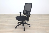 Task Black Mesh Black Fabric Operator Chair - Thumb 3