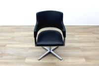 Brunner Black Leather Self Centering Executive Meeting Chair - Thumb 4