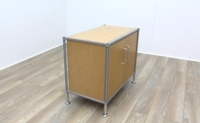 Golden Oak Cupboard with Aluminium Frame - Thumb 4