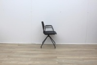Four Grey Meeting Chair With Material Seat - Thumb 3