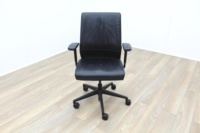 Steelcase Think Black Leather Office Task Chairs - Thumb 3