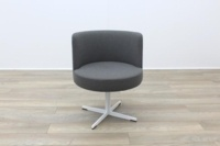Brunner Grey Fabric Reception Tub Chair - Thumb 4
