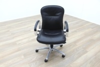 Black Faux Leather Executive Office Task Chairs - Thumb 3