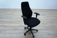 Black Fabric High Sculpted Back Multifunction Office Task Chairs - Thumb 2