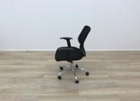 Black Operator Chairs With Mesh Back And Fabric Seat - Thumb 4