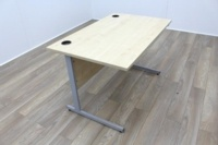 Maple 1200mm Cantilever Straight Office Desks - Thumb 2