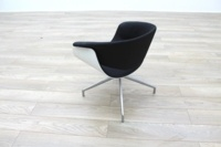B&B Italia Sina Black Fabric White Back Office Reception Chair - Thumb 5