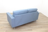 Poltrona Frau Blue Leather Executive Office Sofa - Thumb 5