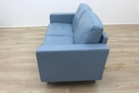 Poltrona Frau Blue Leather Executive Office Sofa - Thumb 4