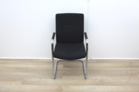Black Meeting Chairs With Chrome Legs  - Thumb 2