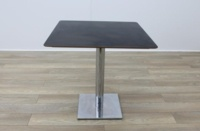 Black Square Coffee Table Chery Edge 750mm - Thumb 3