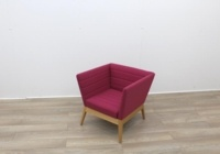 Pink Fabric Reception Tub Chair - Thumb 2