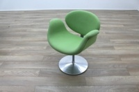 Artifort Little Tulip Chair, Green Fabric Office Reception - Thumb 3