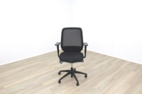 Orangebox Joy-12 Black Mesh / Fabric Office Task Chairs - Thumb 3