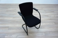 Orangebox GO Black Fabric Office Meeting Chairs - Thumb 2