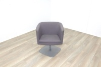 Grey Fabric Office Reception Tub Chairs - Thumb 3
