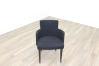 Black Fabric w/ Green Fleck Office Reception Tub Style Chairs - Thumb 3