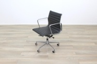 Eames Style Black Ribbed Office Task Chair - Thumb 4