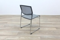 Daylight Grey Mesh Canteen Chair Made in US - Thumb 8