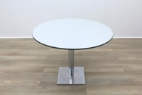 Grey Round Table Black Edge 1000mm - Thumb 3