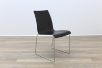 Brunner Mahogany Seat Chrome Legs Meeting Chair - Thumb 5