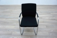 Ocee Design Black Fabric Cantilever Office Meeting Chairs - Thumb 3