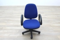 Blue Fabric Adjustable Operator Chairs - Thumb 6