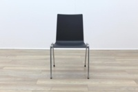 Brunner Dark Grey Chrome Frame Meeting Chair - Thumb 4