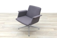 Brunner Grey Fabric Self Centering Meeting/Reception Chair - Thumb 3