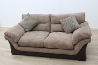 Brown Fabric Sofa - Thumb 6