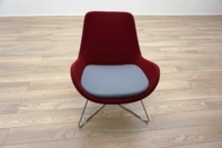 OrangeBox AVI Red / Grey Office Reception Lounge Chairs - Thumb 3