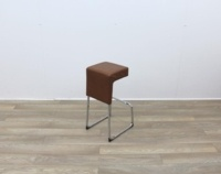 Leather Bar Stools With Chrome Frame - Thumb 4