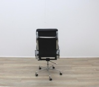 Charles Eames Soft Pad Style High Back Black Leather Faced Task Chair - Thumb 4
