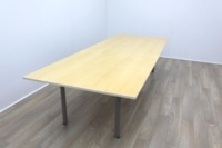 Golden Maple Veneer Office Meeting Table - Thumb 3