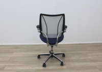 Humanscale Liberty Blue Fabric / Grey Mesh Office Task Chairs - Thumb 5
