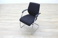 Orangebox Black Fabric Cantilever Office Meeting Chair - Thumb 3