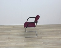 Purple Meeting Chairs With Chrome Frame And Black Arms - Thumb 4
