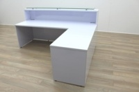 New Cancelled Order Gloss White Office Reception Desk Counter - Thumb 6