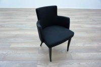 Black Patterned Office Reception Tub / Meeting Chairs - Thumb 2