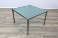 Frosted Glass Square Office Coffee Table - Thumb 3