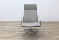 Brunner Light Grey Leather Executive Chair - Thumb 4